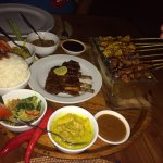 Balinese Rijsttafel with Pork ribs.