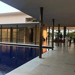 corridoor by the pool side