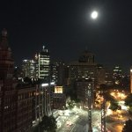 Night view from 13th floor balcony room. Huge moon