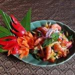 Salade de Mangue et Crevettes
