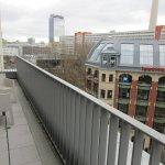 Unser Balkon mit Aussicht