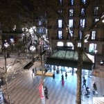 Part of Ramblas avenue, view from our room window