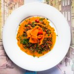 Vegetable ragout made of lentils and carrot