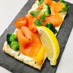 tartine saumon fumé fromage frais et wasabi
