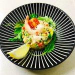 taboulé quinoa aux crevettes