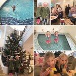 Restaurant, Pool and Christmas Tree!
