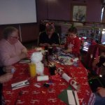 Christmas meal with the family visiting my kids