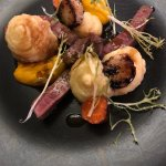 Fillet steak surf and turf cooked rare and to perfection!