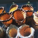 Home made waffle cones