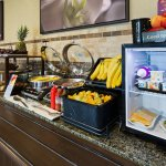 Complimentary Hot Buffet Breakfast including Vegetarian Omelette, Freshly baked tea biscuits & m