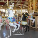 The flag horse is considered the lead horse of this carousel.