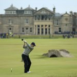 Jordon Speith on the 18th tee at The Experience St Andrews