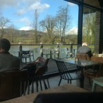 view from cafe across the pond