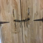 Locks on our room's door.