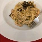 Bigoli pasta with rabbit and summer truffles