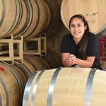 Assistant winemaker Christina at the winery.