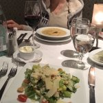 Caesar salad et acorn squash bisque-delicious