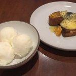 Poppy seed cake with lemon meyer sorbet