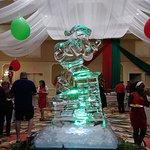 Ice Sculpture of Santa
