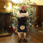 Me dressed for Hogmanay Ceilidh