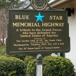 This is the Blue Star Memorial Highway sign for North Carolina.