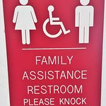 This welcome center has a family assistance restroom.