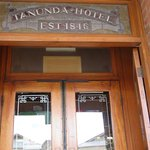 Entrance to historic Hotel and Restaurant