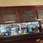 The counter where you order your lunch in the Tanunda Hotel