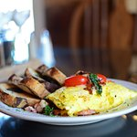 Omelet + Marble Rye Toast | Rebecca's Bistro