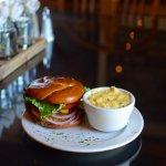 Bistro Burger + Cheesy Potatoes | Rebecca's Bistro