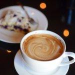 Latte + Lemon Blueberry Scone | Rebecca's Bistro