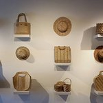 Home arts display of woven items