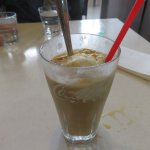 Could not resist the taste of the ice coffee, tried first before photo