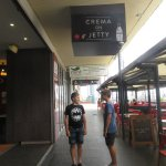 Before going into Crema on Jetty, Glenelg