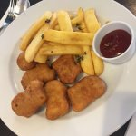 nuggets with fries