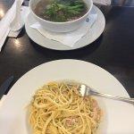 carbonara/ beef noodle soup