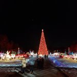 The little gardens of lights surrounding the centre tree
