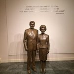Statues of Ron and Nancy