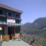 Hotel and surrounding hills