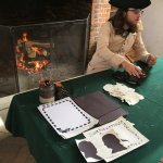 Outbuilding at the George Wythe House with craft activity