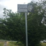Kurt Cobain Landing sign