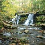 Diamond Notch Falls in September by Albany Wayfarer