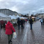 Kauppatori market on a rainy December day