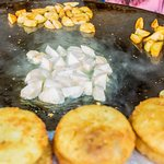 Street food snacks, aaloo tikki and aaloo chaat
