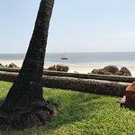 Uitzicht over de Indische Oceaan vanaf het terrein