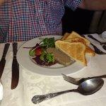 Chicken liver parfait with brioche toast