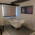 Fantastic bathroom located in the room.