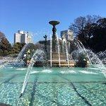 国宝の主庭噴水池