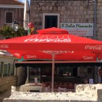 Cafe in Ston.