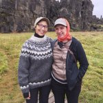 With Salty Tours guide Anna Margrét Stefánsdóttir (left) at Thingvellir